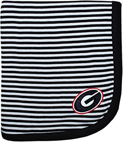 "Georgia Bulldogs Black NCAA College Newborn Infant Baby Blanket 33"" x 36"""