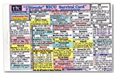Ultimate NICU (Neonatal Intensive Care Unit) Survival Card (Large 3.5x5.5 in.) Laminated with hole punched