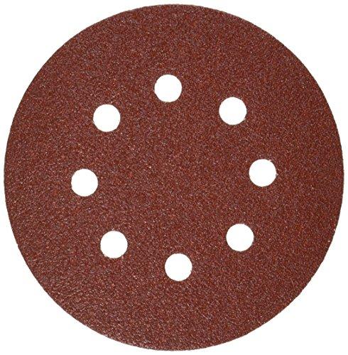 Bosch SR5R060 5-Inch Hook & Loop Sanding Disc, 8-Hole, Red, 60 Grit, 5 Pack