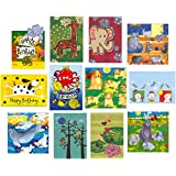 12 Animal Birthday or Greeting Cards