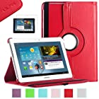 Samsung Galaxy Tab 2 10.1 Case, ULAK PU Leather 360 Rotating Multi Viewing Angles Stand Case Cover for Samsung Galaxy Tab 2 10.1 inch P5100 P5110 Tablet with Screen Protector (Red)