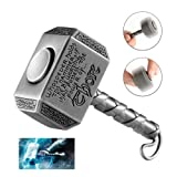 MAYBO SPORTS Wiitin Thor's Battle Hammer Fidget Hand Spinner Made by Brass, the Mighty Mjolnir Keychain Toy – Antique Pewter (Color: Rainbow Wheel)