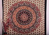 1 X Mandala Tapestry Tapestries, Indian Tapestry, Hippie Tapestry, Indian Wall Hanging, Indian…