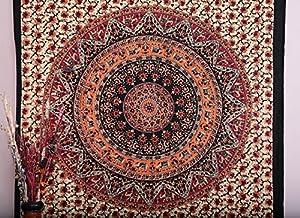 Twin Hippie Tapestry, Hippy Mandala Bohemian Tapestries, Indian Dorm