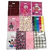 XUKE 50PCS Plastic Bags Mixed Pattern Plastic Gift Bag Shopping Bag