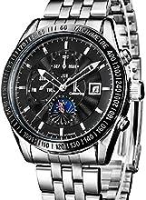 Comprar Alienwork IK Reloj Automático Multi-función mecánico Acero inoxidable negro plata 98211G-02
