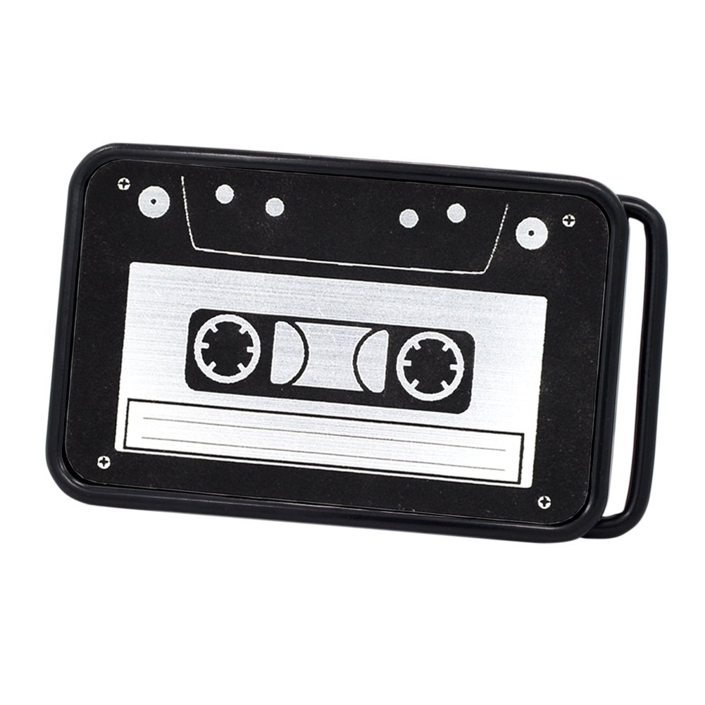 Buckle Rage Unisex Vintage Cassette Tape Player Music Belt Buckle 0