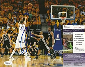 Stephen Curry Golden State Warriors Signed Auto 8x10 Photo W JSA COA #k03709 by Hollywood Collectibles