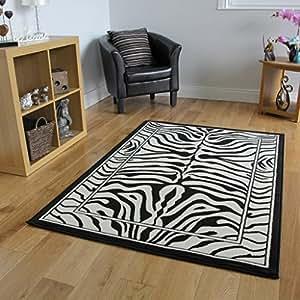 Safari animal black white zebra stripe print - Alfombras animal print ...