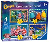 Ravensburger - Clangers - 4 puzzles de Doctora Juguetes - 12, 16, 20, 24 Habitaciones - 14x19 cm