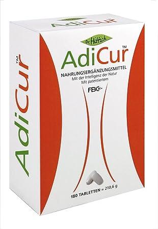 Gesund abnehmen, AdiCur™ mit original FBCx™ mit Nahrungsfasern Fett binden - 180 Tabletten von Dr. Hittich