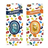 JELLY BELLY TWIN PACK CAR VENT CLIP AIR FRESHENER SCENTS - BLUEBERRY + TANGERINE