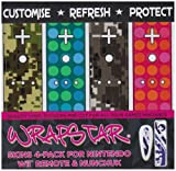 echange, troc Wrapstar Camo Dots 4 Pack Graphic Skin for Wii Nunchuk and Remote (Wii) [Import anglais]
