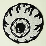 �i�~�V�J�jMISHKA �p�b�` ���b�y�� Monochrome Keep Watch Patch White�i�z���C�g�j �摜