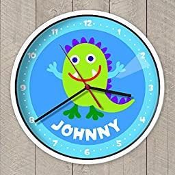 Olive Kids Monster Wall Clock, White Clock Case, Great Quality