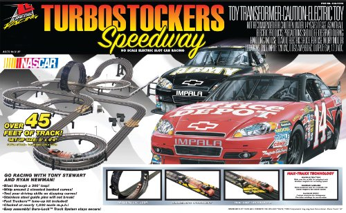 Life-Like Turbostockers Speedway NASCAR Electric Slot Car Race Set