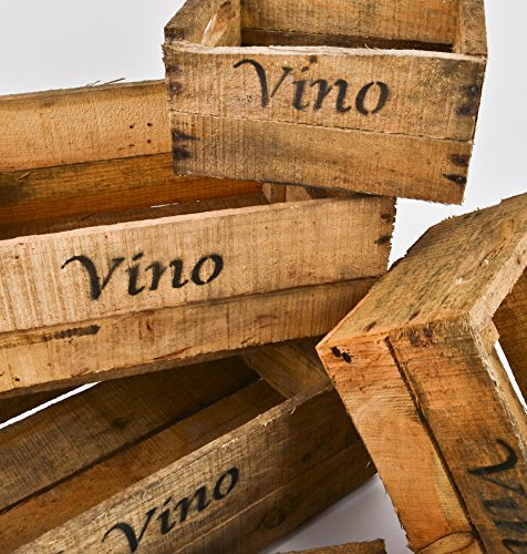 Dadeldo Casse in legno, Set di 5 pz, con scritta