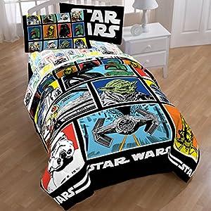 Amazon Com Star Wars Classic Grid Comforter Sheet Set
