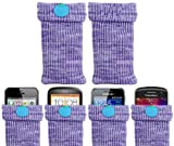 ITALKonline UNIVERSAL PURPLE Sock Case Cover Pouch With Detachable Strap Doro PhoneEasy 506
