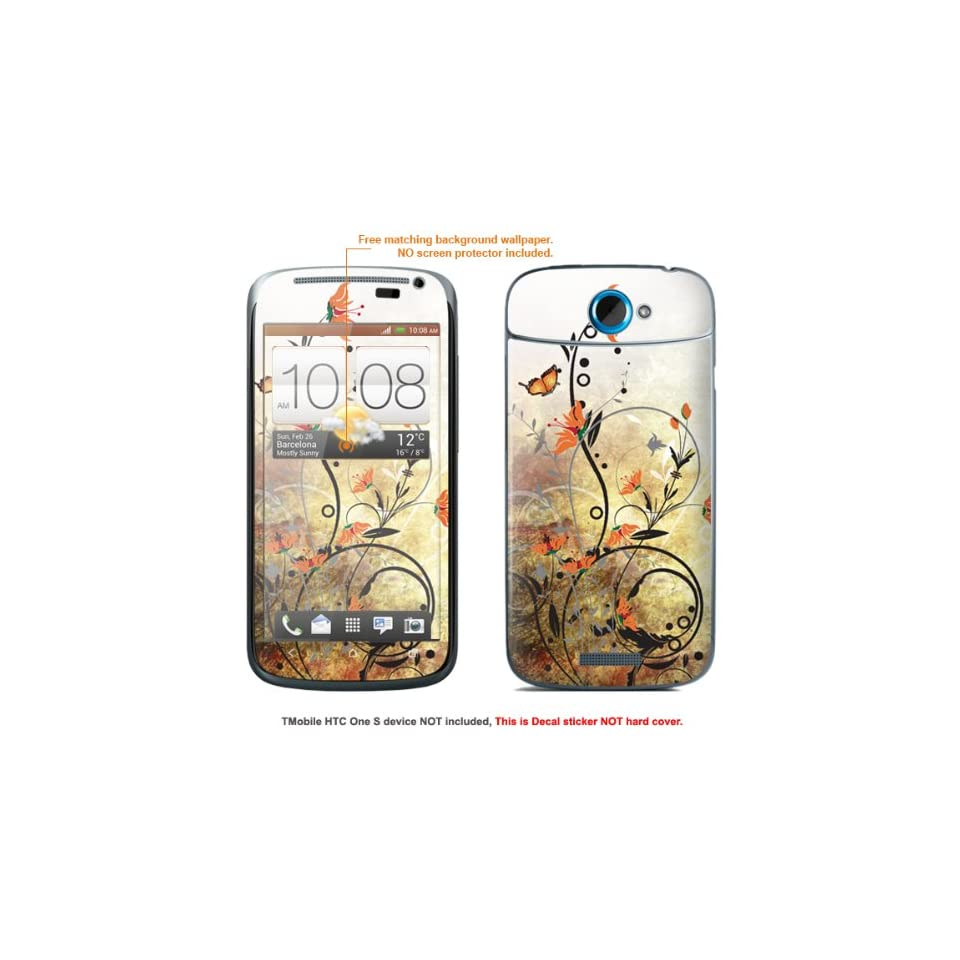 Protective Decal Skin Sticker for T Mobile HTC ONE S  T Mobile version case cover TM_OneS 213