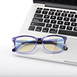 Kirka Blue Light Shield Computer Reading/Gaming Glasses - 0.0 Magnification - Anti Blue Light Protection Frame (A15311C3)