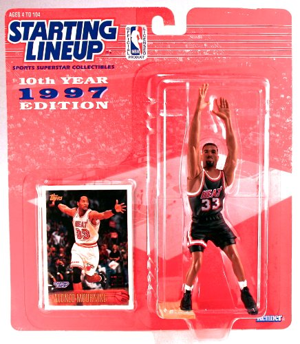 Alonzo Mourning Action Figure of the Miami Heat - NBA 10th Year 1997 Edition Starting Lineup Sports Superstar Collectibles