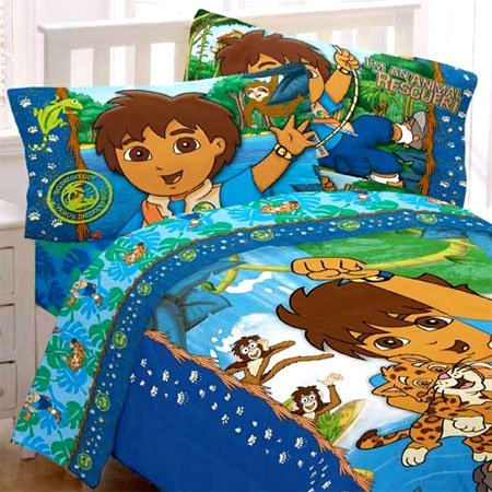 Go Diego Animal Rescue Full Comforter and Pillowcases