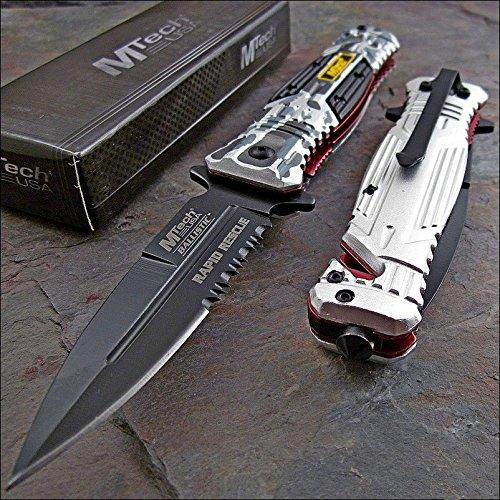 Mtech Ballistic Rapid Rescue Grey Camo Glass Breaker Knife New!
