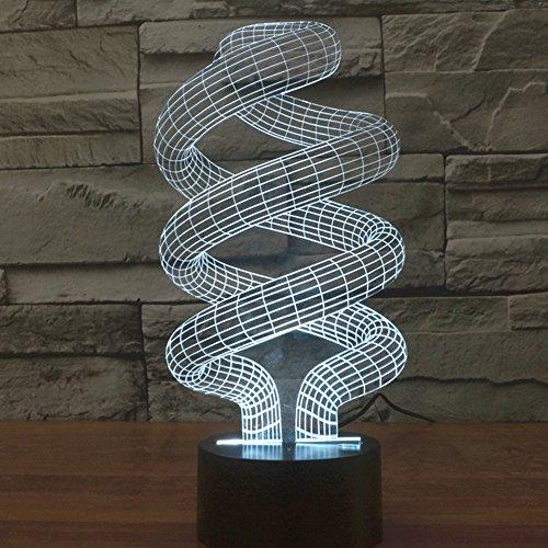 Illusione 3d lampada luce notturna jawell spirale 7Cambiare colore Touch USB tavolo regalo giocattoli decorazioni - Pulsanti Turtle