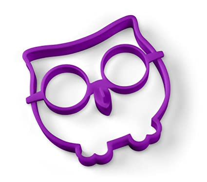 Fred Funny Side Up Owl Egg Ring, Purple