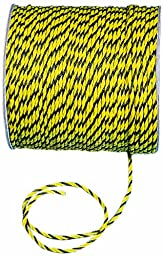 Mutual 14980 3-Strand Twisted Polypropylene Safety Rope, 3340 lbs Tensile Strength, 600\' Length x 3/8\