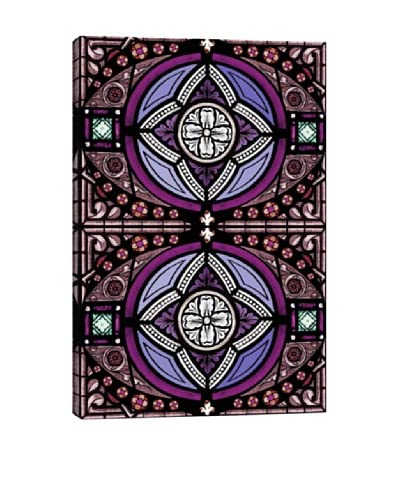 Eye of Darkness Stained Glass Giclée On Canvas