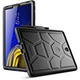 Galaxy Tab S4 10.5 Case, Poetic TurtleSkin Series [Corner/Bumper Protection][Grip][Bottom Air Vents] Protective Silicone Case for Samsung Galaxy Tab S4 10.5 Inch (2018) - Black (Color: Black)