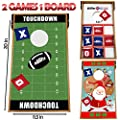 Junior Cornhole Bean Bag Toss Game - Great for Outside Yard Kids Games - Tic Tac Toe and Cornhole Party Games for Kids.