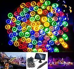 Solarmks DC-1200 Solar String Lights 200 Colored Led String Lights 72ft Solar Christmas Lights Outdoor