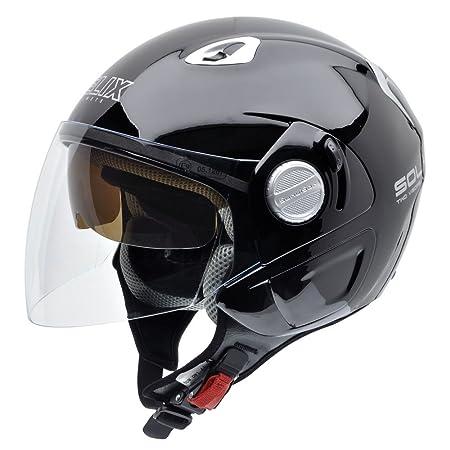 NZI 150212G046 Solar B Casque de Moto, Noir, Taille : M