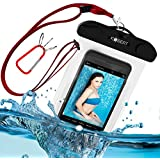 Kobert Waterproof Case (Deluxe Pro), Best Dry Bag For iPhone 6s, 6, 6 Plus, 5s, Samsung Galaxy s6, s6 Edge, s5, s4, Note 4, Cell - Lanyard + Carabiner