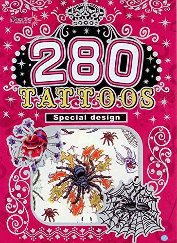 280 Temporary Tattoos - Spiders - Style 26 - 1