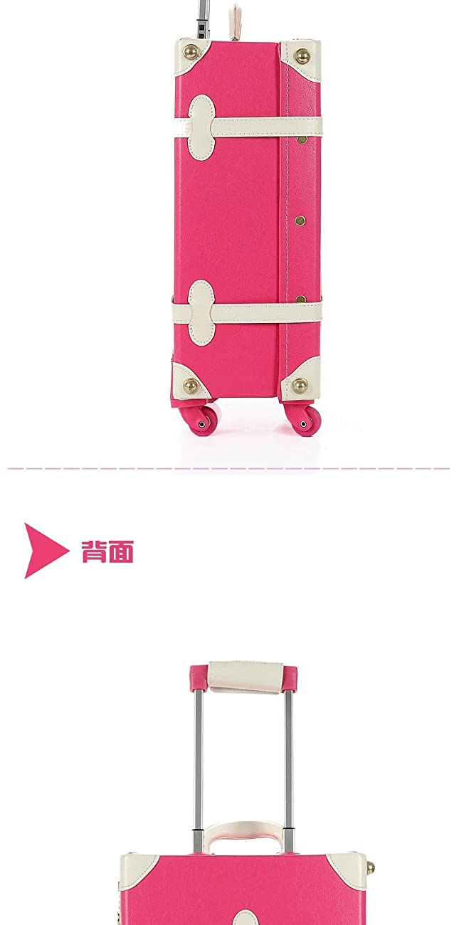 DPIST® Luggage Sets On Sale Vintage & Retro Style Carry-On Trolley Luggage and Cosmetic Tote Bag Set 6