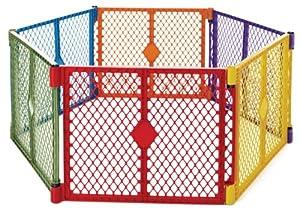 North States Industries Superyard Play Yard, Colorplay, 6 Panel