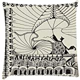 Snoogg Abstract Play Card Vintage Cushion Cover Throw Pillows 16 X 16 Inch