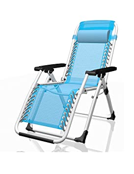 Silla de oficina Silla de playa plegable plegable Silla de ocio reclinable (dos colores, dos estilos opcionales) ( Color : Azul , Estilo : A )