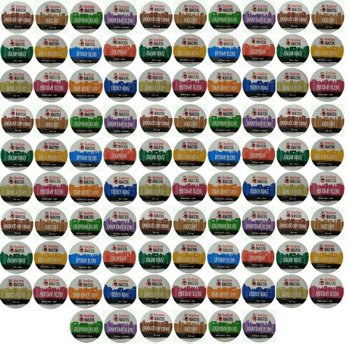 96-Count Beantown Roasters Variety Pack Sampler of 12 Assorted Roasted Coffees, single-cup coffee pack sampler for Keurig K-Cup Brewers