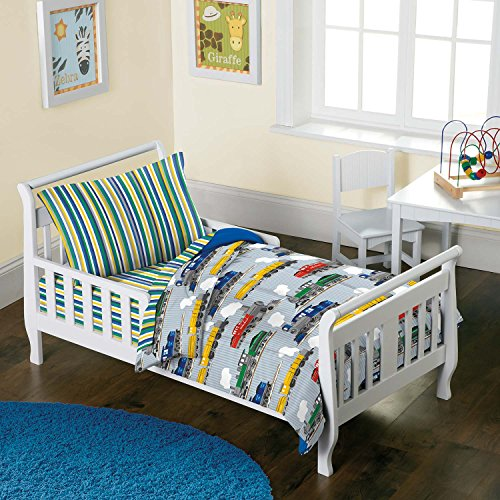 Trains Boys 4-Piece Toddler Bedding Set
