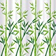 Tatkraft Green Bamboo Shower Curtain 180X180 cm Waterproof Peva Material incl. 12 oval Shower Rings