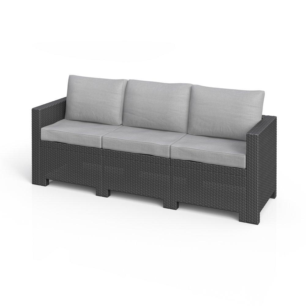 BICA Colorado 3-Sitzer Couch Poly Rattan Gartenmöbel Lounge Rattanoptik Sofa jetzt bestellen