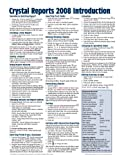 img - for Crystal Reports 2008 Quick Reference Guide: Introduction (Cheat Sheet of Instructions, Tips & Shortcuts - Laminated Card) book / textbook / text book