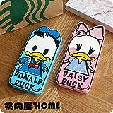 桃肉屋【Disney】ディズニー風スケッチ シリコン iPhone ケース (IPHONE6, デイジーダック)