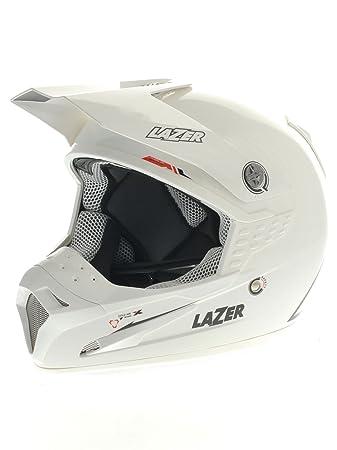 Casque Motocross Lazer SMX X-Line Plain Blanc