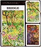 Claude Monet's Gardens at Giverny Themed Bridge Playing Card Set, includes Two Decks of Cards and Bridge Scoring Pad